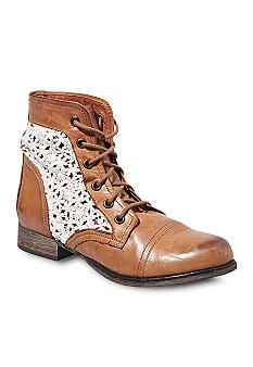 Steve Madden Thundr-C Boot -- ok so these look a little clown-ish because they look so long, but I like the lace idea.