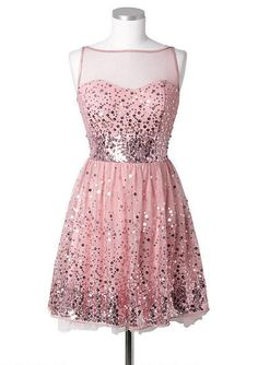 Sequin Mesh Dress - fr