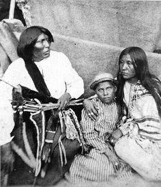 native american prisoner family at st. augustine FL.1875