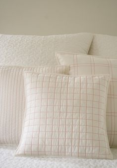Quilted throw pillows on the purl bee.