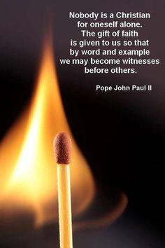 Blessed Pope John Paul II ~ Inspiring