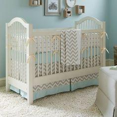 Taupe+Zig+Zag+Crib+Bedding+|+Boy+or+Girl+Baby+Bedding+|+Carousel+Designs