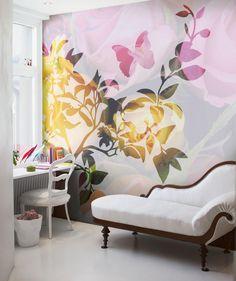 wall art, rose, wall decor, shadow, offic, wall murals, den, painted walls, wall design