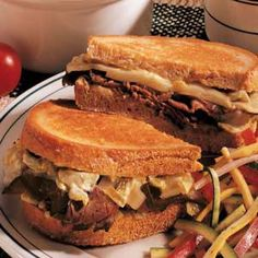 Grilled Roast Beef Sandwiches ~ In this recipe, the chilies give the quick grilled sandwich a little bite. It's simple and delicious.