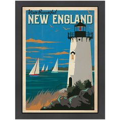 New England Framed Print