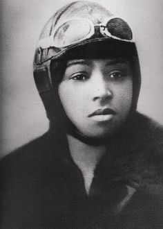 """Born in 1892, the beautiful, tough, determined and incredibly inspirational, professional aviator Bessie ""Queen Bess"" Coleman was the first African American (in the world) to attain a pilot's license. At age 30, she was considered ""the world's greatest woman flyer."" Her tragic death at only 34 ended a fierce and brilliant career."""