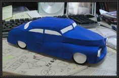 1949 Electric Mercury Monarch Paper Car Free Paper Model Download