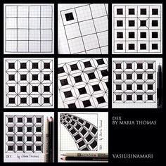 zentangl pattern, zentangl idea, instagram photo