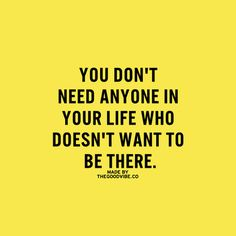 You don't need anyone