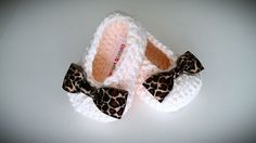 Crochet Baby Girl Booties Leopard Baby Girl by CutestlittleThing, $18.00