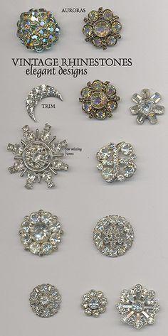 Rhinestone Buttons, via Flickr.