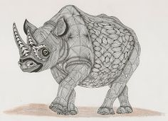 Black Rhino.- template van Ben kwok Adri