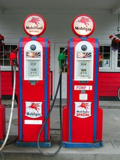 gas station, vintag gas, servic station, station pump, gas pumps