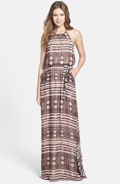 Jessica Simpson Print Halter Maxi Dress | Nordstrom