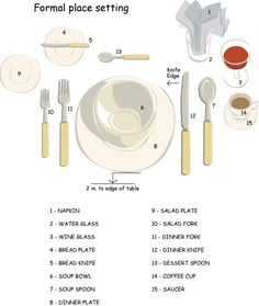 Formal table setting