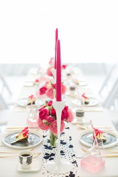 Modern pink, black & white party ideas | 100 Layer Cake