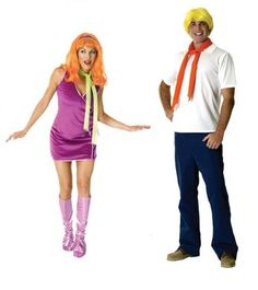 Scooby Doo - Fred & Daphne Adult Couples Costume Set