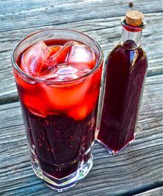 Homemade Blueberry Balsamic Liqueur
