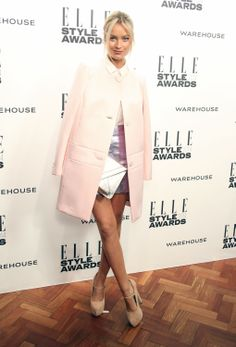 Laura Whitmore wears bespoke Warehouse to  the ELLE Style Awards 2014.