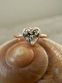 HEART of GOLD White Topaz and 14k Rose gold by onegarnetgirl, $868.00