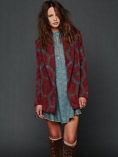 Changing Patterns Wool Swing Coat £183