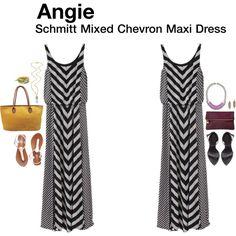 """""""Schmitt Mixed Chevron Maxi Dress"""""""