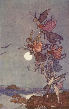 Edmund Dulac:   The tempest elves and fairies