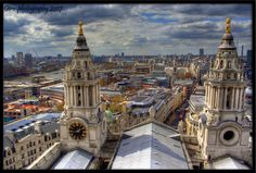 UK - View of London from St Pauls Cathedral Stone gallery by Federico