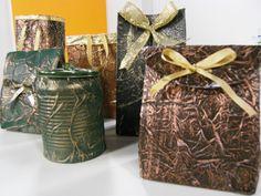 Embalagens para presentes com reciclagem
