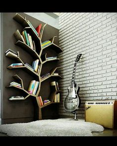 This is sweet if you're looking to just put an artsy bookshelf in a room, not have a library.