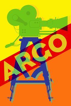 Argo X Andy Warhol     Oscar Pop! The 2013 Best Picture Nominees as Pop Art Posters {Shutterstock} film, argo, pop art, movi poster, art posters, blog, popart, oscar party, design