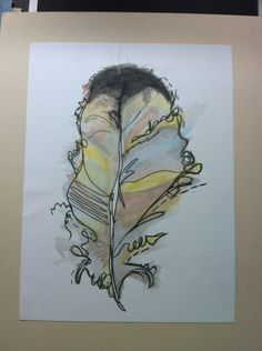 My water color feather