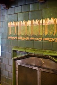 1910 gem of a Montlake Craftsman (in Seattle, OR): The fireplace features a rare J.B. Owens tile work.