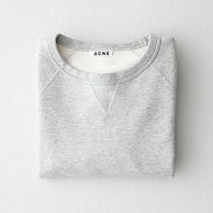 fashion, studios, cloth, style, sweater weather, acn sweater, mens sweatshirts, basic grey, basic sweater