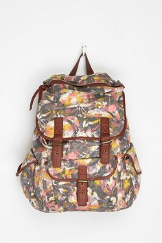 Ecote Patterned Canvas Backpack  #UrbanOutfitters Morgan