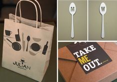 graphic design, brand identity, bag, smart design, julian, packag design, design blogs, comfort foods, restaurant branding