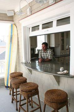 architect, dream, beach houses, garage doors, kitchen windows, backyard, beach styles, porch, patio bar