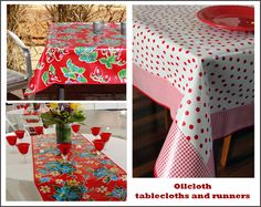 Oilcloth Tablecloths and Kitchen Accessories