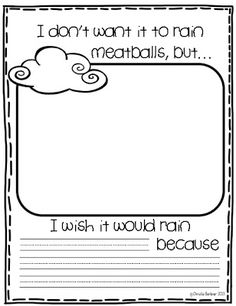 First Grade Fever!: Wacky Weather FREEBIE!  Use with Cloudy with a Chance of Meatballs.  This is so cute.  I love this story as well!  Will definitely use this in my class during a read aloud.