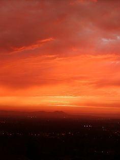 Orange sunset.