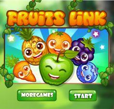 Divertido juego donde tienes que unir varias frutas divertidas en pareja
