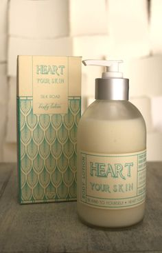 Be kind to yourself with this lovely skin lotion handmade by HeartYourSkin in adorable art deco styled packaging