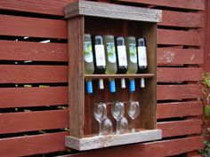 barn wood wine cabinet