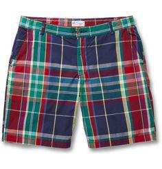 Gant RuggerMadras-Check Cotton Shorts