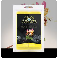 "Childhood memories of summers spent looking for the perfect honeysuckle bush... now you can have that same scent ""bottled up."" This scent starts with a strong floral bouquet, adds hints of pear and cassis, and finishes with a sweet cotton candy note. Honeysuckle Wax Tarts   Infused with natural lemon, neroli, and petitgrain essential oils.  ​Jumbo 5.5oz package of 6 scented wax tarts - 100% all natural soy wax tart. Jewelry hidden in every package of scented wax tarts."
