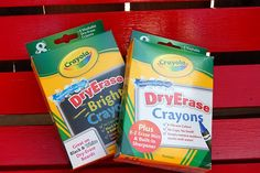 Make a Quiet Book using dry erase crayons