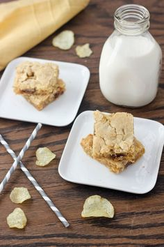 Chocolate Chunk Potato Chip Cookie Bars from Bake Your Day