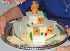 A cake for St. Joseph's feast day (March 19) that resembles a St. Joseph's altar! Check out the how-to here. :-)