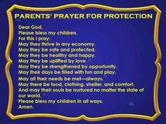 Parents Prayer For Protection