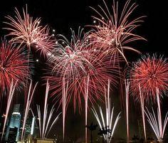 Celebrate via fireworks = PERFECT.